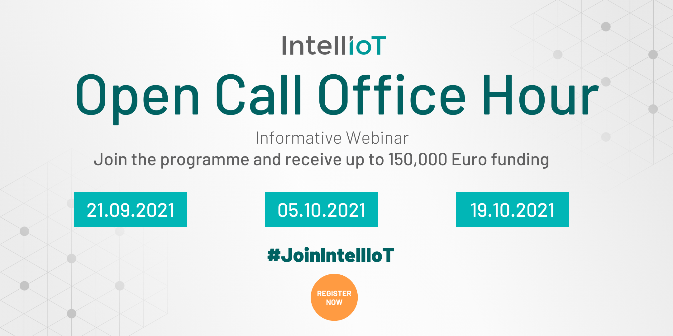 Join IntellIoT's first Open Call and receive up to 150,000 Euro funding